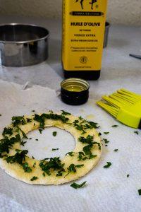 pain grillé huile d'olive
