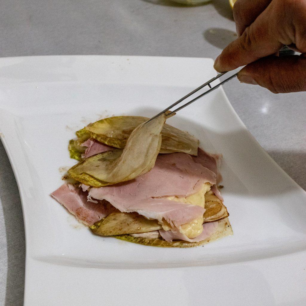 dressage des endives au jambon